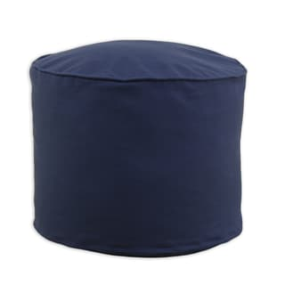 Duck Navy Cotton 20-inch x 17-inch Corded Beads Hassock