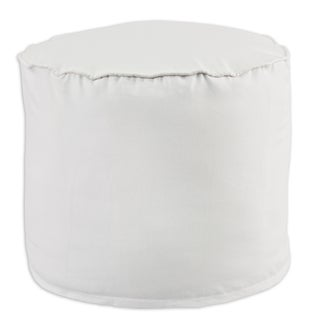 Duck White Cotton 12.5-inch x 12.5-inch Corded Beads Hassock