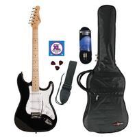 Austin Guitars Black Electric Guitar Pack