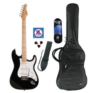 Austin Guitars Black Electric Guitar Pack