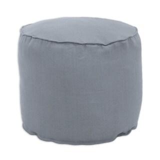 Circa Grey Linen 12.5-inch x 12.5-inch Corded Beads Hassock