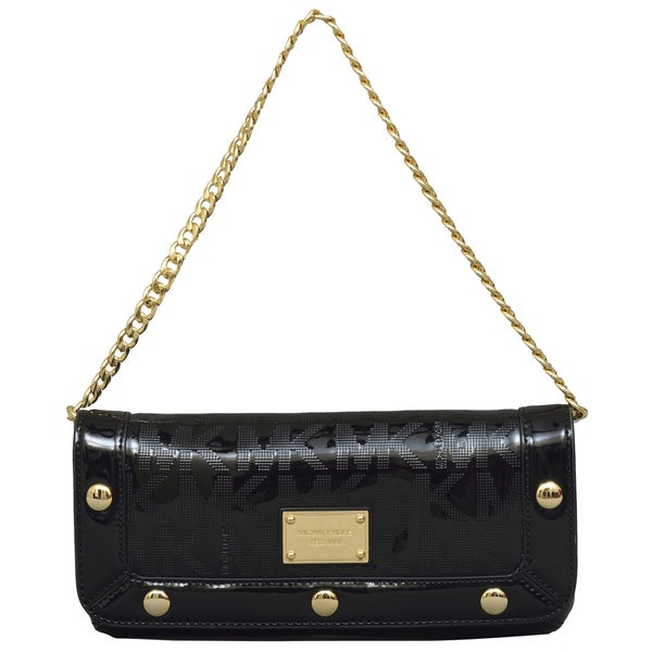 88d7850075d7 Shop Michael Kors Delancy Black Clutch Handbag - Free Shipping Today ...