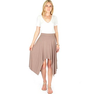 Shark-Bite Raw Edge Skirt