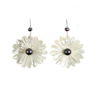 Pearl Lustre Freshwater Mother of Pearl Earrings