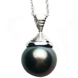 Pearl Lustre Black South Pearl Pendant
