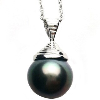 Pearl Lustre Black Tahatian South Sea Pearl Pendant