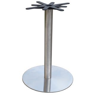 JI Bases Stainless Steel 28 Inch Round Bar Height Table Base With 4