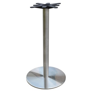 JI Bases Stainless Steel 22-inch Round Bar-height Table Base with 3-inch Column and 17-inch Top Plate