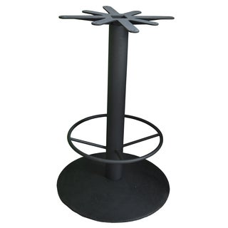 JI Bases Cast Iron 28-inch Domed Round Bar-height Table Base with 4-inch Column and Footring with 17-inch Top Plate