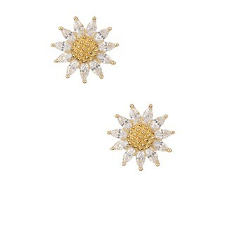 Pori 18k Goldplated/Rhodium-plated Sterling Silver Cubic Zirconia Sun Earrings