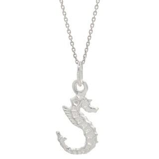 Pori Italian Sterling Silver Seahorse Necklace