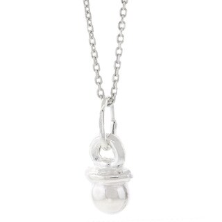 Pori Italian Sterling Silver Baby Pacifier Necklace