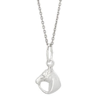 Pori Italian Solid Sterling Silver Horse Necklace