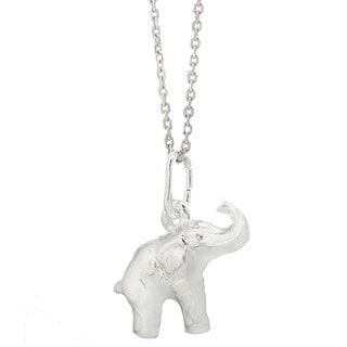 Pori Italian Sterling Silver Elephant Necklace