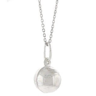 Pori Italian Solid Sterling Silver Soccer Ball Necklace