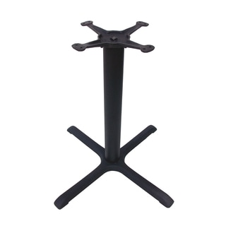 JI Bases Cast Iron 30-inch 4-prong Restaurant Table Base with 3-inch Column and 13-inch Top Plate