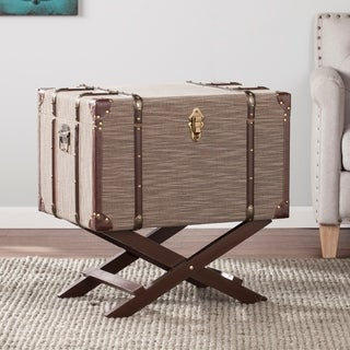 The Curated Nomad Belize Linen Trunk File Storage