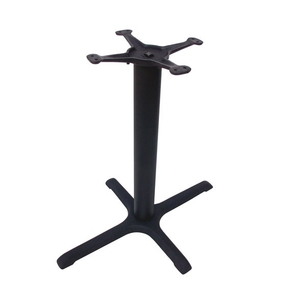 JI Bases Cast Iron 22-inch x 30-inch 4-prong Restaurant Table Base with 3-inch Column and 13-inch Top Plate