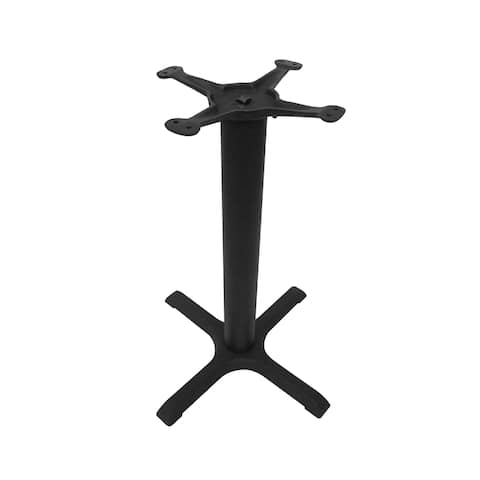 JI Bases Cast Iron 22-inch 4-Prong Restaurant Table Base with 3-inch Column and 13-inch Top Plate