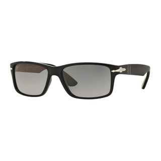 Persol Men's PO3154S 104171 Black Plastic Rectangle Sunglasses