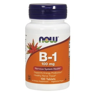 Now Foods 100 mg Vitamin B-1 tablets