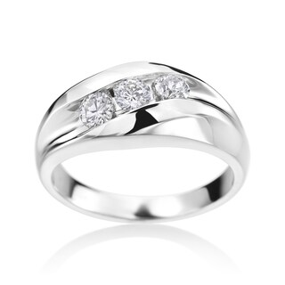 SummerRose Men's 14k White Gold 3/4ct TDW Diamond Ring