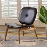 Atticus Bonded Leather Accent Chair by Christopher Knight Home