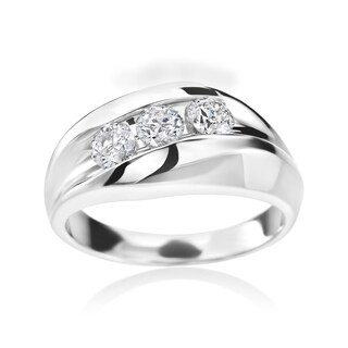 Summer Rose Men's 14k White Gold 3/4-carat Diamond Ring
