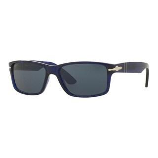 Persol Men's PO3154S 1047R5 Black Plastic Rectangle Sunglasses