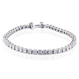 Annello by Kobelli 10k White Gold 7 3/4 Carats TGW Moissanite (HI) Tennis Bracelet (7 inches)