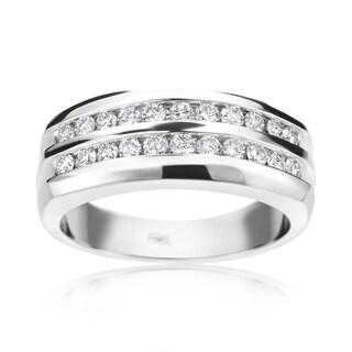 Summer Rose 14k White Gold 3/4-carat Men's Diamond Ring