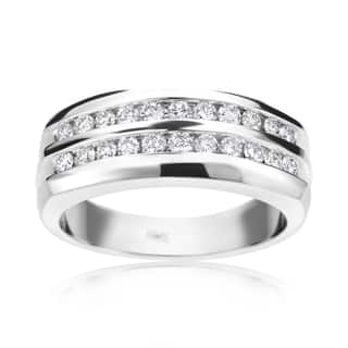 Summer Rose 14k White Gold 3/4-carat Men's Diamond Ring|https://ak1.ostkcdn.com/images/products/12008660/P18885429.jpg?impolicy=medium