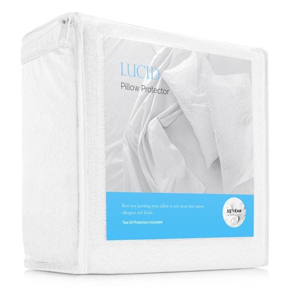 LUCID Premium Hypoallergenic 100-percent Waterproof Pillow Protector (Set of 2)