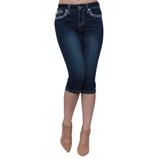 Sexy Couture Women's Denim Blue Capri Jeans