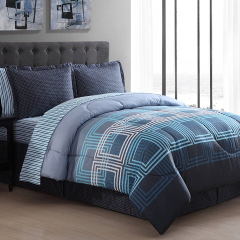 Carson Carrington Holmestrand Square 8-piece Bed in a Bag with Sheet Set