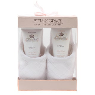 Style & Grace Scented Indulgent Slipper Set