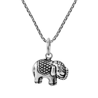 Handmade Royal Thai Elephant .925 Sterling Silver Necklace (Thailand)