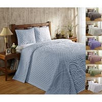 Better Trends Trevor Blue Cotton Bedspread Set