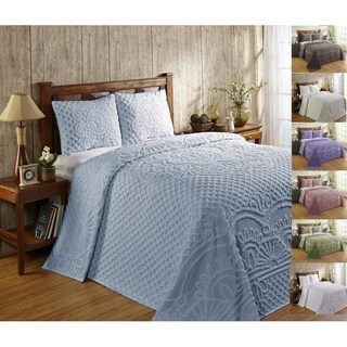 Better Trends Trevor Blue Cotton Bedspread Set (3 options available)