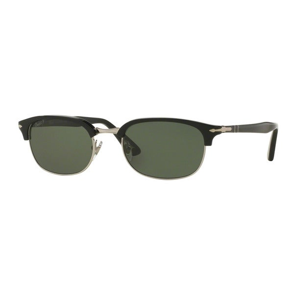 cbd6135cfb Persol Men  x27 s PO8139S 95 58 52 Black Plastic Pilot Polarized Sunglasses