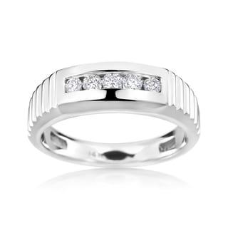 Men's SummerRose 14k White Gold 3/8-carat Diamond Ring