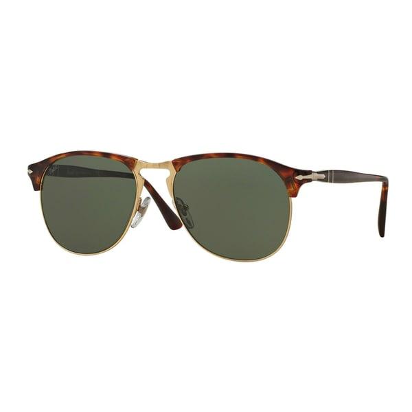 9cfa40457ed Persol Men  x27 s PO8649S 24 31 53 Havana Plastic Pilot Sunglasses -. Click  to Zoom