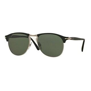 Persol Men's PO8649S 95/58 56 Black Plastic Pilot Polarized Sunglasses