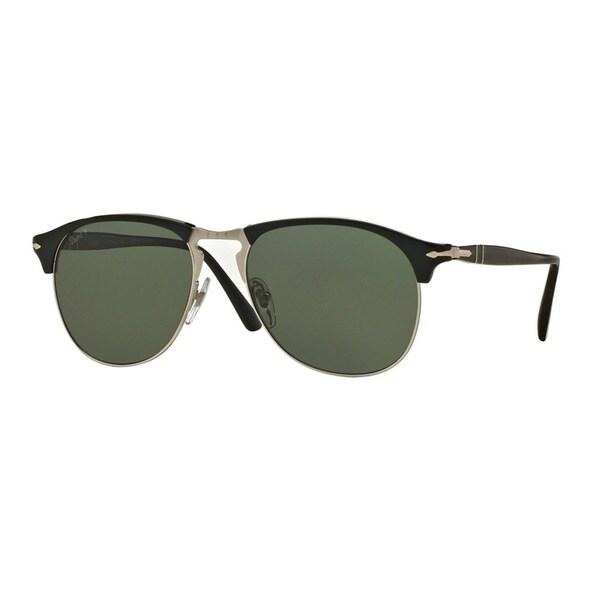 fe3b0cfb79 Persol Men  x27 s PO8649S 95 58 56 Black Plastic Pilot Polarized Sunglasses