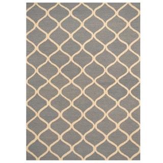 Herat Oriental Indo Hand-tufted Trellis Wool Rug (5' x 7')