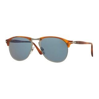 Persol Men's PO8649S 96/56 53 Havana Plastic Pilot Sunglasses