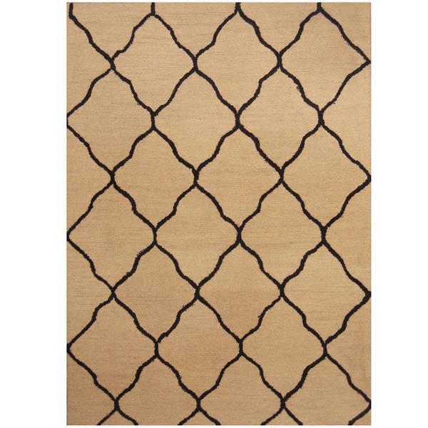 Handmade Herat Oriental Indo Trellis Wool Rug (India) - 5' x 7'
