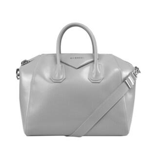 Givenchy Antigona Calkskin Leather Satchel Medium Bag Silver Hardware with Shoulder Strap