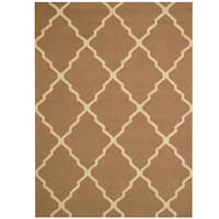 Herat Oriental Indo Hand-tufted Trellis Wool Rug (5' x 7') - 5' x 7'