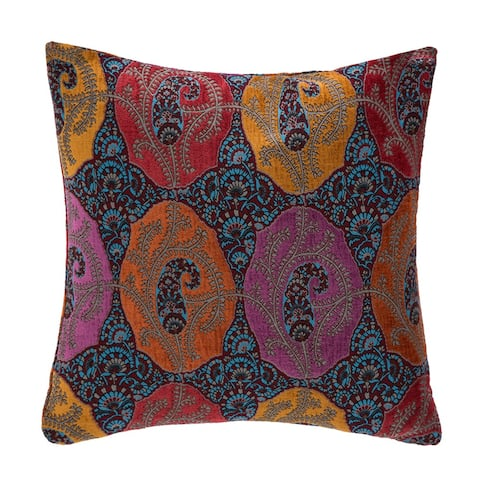 Elias Decorative 22-inch Feathered Filled Accent Pillow by Michael Amini